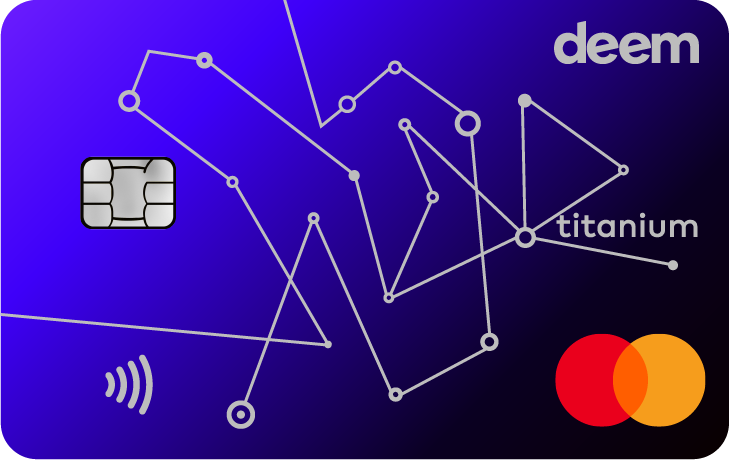 deem Mastercard Titanium Miles Up Credit Card