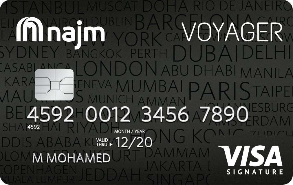 Najm Voyager Signature Credit Card